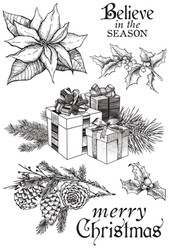 "Kaisercraft, Clear Stamps, Christmas Edition, 7 Pieces, 6"" x 4"", Scrapify, Australia"