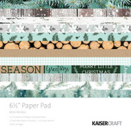 Kaisercraft  6.5in, Paper Pad, Mint Wishes , Design paper, 40 Page Pad, 2x12 sheets Designed Paper, 12xSpecialty Papers, 4xDie Cut Pages, Scrapify, Australia