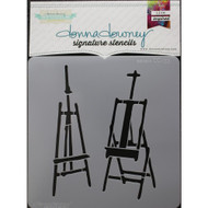 Donna Downey Signature Series Stencils, Easels, Scrapify, Australia