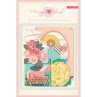Maggie Holmes Adhesive chipboard embellishments, various shapes and designs. 58 pcs, Scrapify, Australia