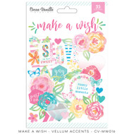 Cocoa Vanilla, make a wish, vellum shapes, 36pcs, Scrapify, Australia