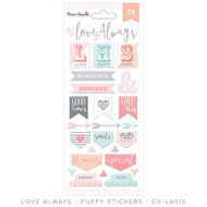 Cocoa Vanilla, love always, puffy stickers, 24 pk, Scrapify, Australia