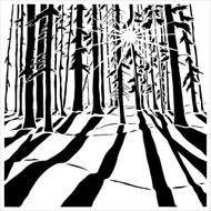 """The Crafter's Workshop Stencils 6""""x6"""" - Mini Sunlit Forest. This stencil was designed by Carmen Medlin for The Crafter's Workshop"""