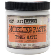 Finnabair Art Basics Modeling Paste, Opaque Matte 8oz, 236mls, Scrapify, Australia