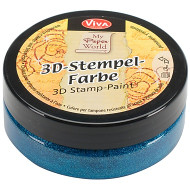 Viva Decor, 3D Stamp Paint 50ml Turquoise Metallic, Scrapify, Australia