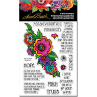 Stampendous Laurel Burch Cling Stamp, Floral Reflections, Scrapify, Australia