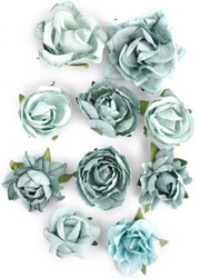 Kaisercraft Scrapbook Paper Blooms, Flowers, pk 10 ,asst sizes , Sage, F632, Scrapify, Australia
