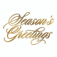 COUTURE CREATIONS, GoPress and Foil,  Hotfoil, Foil Stamp, 72 x 47 mm, Season's Greetings, Scrapify, Australia