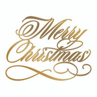 COUTURE CREATIONS, GoPress and Foil,  Hotfoil, Foil Stamp Die, 76 x 57 mm, Merry Christmas, Scrapify, Australia