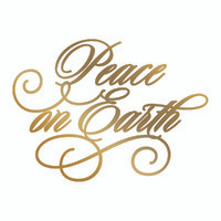 COUTURE CREATIONS, GoPress and Foil,  Hotfoil, Foil Stamp Die, 70 x 51 mm, Peace on Earth, Scrapify, Australia