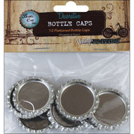 "Bottle Cap Inc, Vintage Edition, Flattened Bottle Caps, 1"" 12/Pkg, Scrapify, Australia"