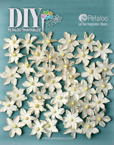 Petaloo, DIY Paintables, White Mulberry Flower (40 Daisies), Scrapify, Australia