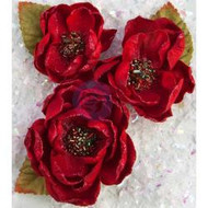 "Prima Marketing, Flowers - Sweet Peppermint Flowers 3/Pkg December 25; Fabric 2.5"" To 3.25"", Scrapify, Australia"