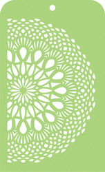 Kaisercraft, Mini Designer Template, Lace Doily, IT044, 3.5 x 5.75 in, Scrapify, Australia