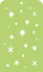 Kaisercraft, Mini Designer Template, Stars, IT041, 3.5 x 5.75 in, Scrapify, Australia