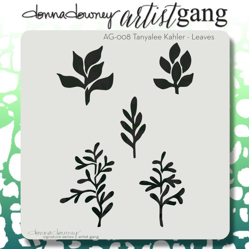 Donna Downey Artist Gang Stencils - Leaves AG008, Scrapify, Australia