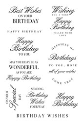 Kaisercraft, Clear Stamps, Sentiments, Birthday Wishes, CS362, Scrapify, Australia