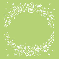 Kaisercraft, Designer Template, 6 x 6in, Floral Wreath, IT434, Scrapify, Australia