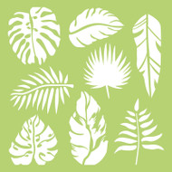 Kaisercraft, Designer Template, 6 x 6in, Tropical Leaves, IT485, Scrapify, Australia