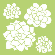 Kaisercraft, Designer Template, 6 x 6in, Succulents, IT487, Scrapify, Australia