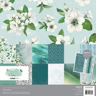 "Kaisercraft  Paper Pack 12""x12"" + Bonus Sticker Sheet,  Morning Dew, PK605, Scrapify, Australia"