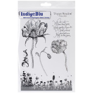 IndigoBlu Cling Stamps - Poppy Meadow Stamp, Scrapify, Australia
