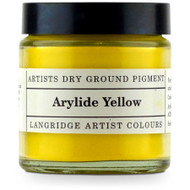 Langridge Dry Ground Pigment 120ml - Arylide Yellow, Scrapify, Australia