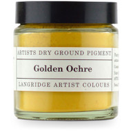 Langridge Dry Ground Pigment 120ml - Golden Ochre, Scrapify, Australia