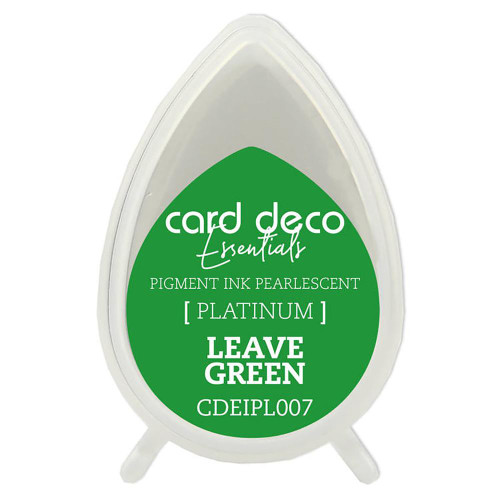 Card Deco Essentials, Fast-Drying Pigment Ink, Pearlescent, Leave Green, Scrapify, Australia