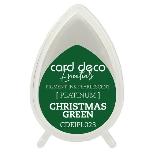 Card Deco Essentials, Fast-Drying Pigment Ink, Pearlescent, Christmas Green, Scrapify, Australia