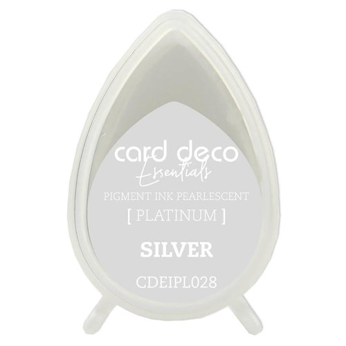 Card Deco Essentials, Fast-Drying Pigment Ink, Pearlescent, Silver, Scrapify, Australia