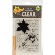 Hero Arts Poly Clear Stamps, Color Layering Tiger Lily, CM264, Scrapify, Australia