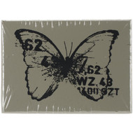 Finnabair Wood Mounted Stamps - Butterfly #3