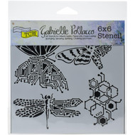 """The Crafter's Workshop Stencils 6""""x6"""" - Nature's Circuitry TCW925s, Scrapify, Australia"""
