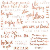 "Kaisercraft  Pattern Paper, 12""x12"",  Misty Mountain, Be You Quotes, PS521, Scrapify, Australia"