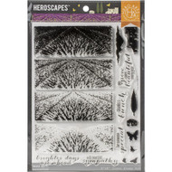 Heroscrapes, Hero Arts Poly Clear Stamps, Color Layering Lavender Field, CM410, Scrapify, Australia