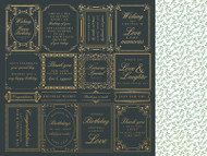 """Kaisercraft  Specialty Paper, 12""""x12"""",  With Love, Foil, Just Because, P2755, Scrapify, Australia"""