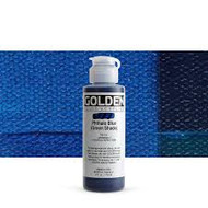 Golden, Fluid Acrylics, Artist Quality, Phthalo Blue (green shade), #2255-4, 4fl oz, 118 ml, Scrapify, Australia