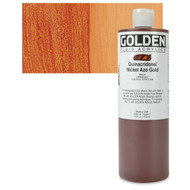 Golden, Fluid Acrylics, Artist Quality, Quinacridone / Nickel Azo Gold #2301-6, 16 fl.oz, 473 mls, Scrapify, Australia