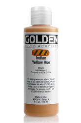 Golden, Fluid Acrylics, Artist Quality, Indian Yellow Hue, #2436B-4, 4 fl.oz, 118 ml, Scrapify, Australia