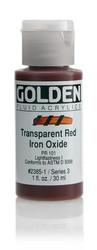 Golden Fluid Acrylic, Artist Paints, Transparent Red Iron Oxide, #2385-1, 1 fl oz, 30 ml, Scrapify, Australia