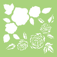 Kaisercraft, Designer Template, 6 x 6in, Full Roses, IT503, Layering Stencil, Scrapify, Australia