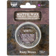 Prima Finnabair Art Alchemy, Matte Wax  .68 fl oz, 20 ml, Rusty Brown, Scrapify, Australia