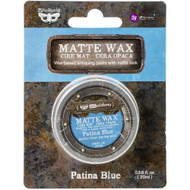 Prima Finnabair Art Alchemy, Matte Wax  .68 fl oz, 20 ml, Patina Blue, Scrapify, Australia