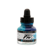 Daler-Rowney FW Artist Inks, Acrylic Ink, 29.5 mls, Turquoise, Scrapify, Australia