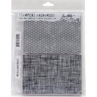 Tim Holtz Stampers Anonymous - Mesh & Linen - Cling Rubber Stamp Set, Scrapify, Australia