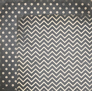 "Bo Bunny  Pattern Paper, 12""x12"",  Double Dot Designs, Charcoal Chevron, Scrapify, Australia"