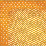 "Bo Bunny  Pattern Paper, 12""x12"",  Double Dot Designs, Orange Citrus Chevron, Scrapify, Australia"