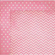 "Bo Bunny  Pattern Paper, 12""x12"",  Double Dot Designs, Passion Fruit Chevron, Scrapify, Australia"