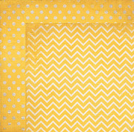 "Bo Bunny  Pattern Paper, 12""x12"",  Double Dot Designs, Buttercup Chevron, Scrapify, Australia"